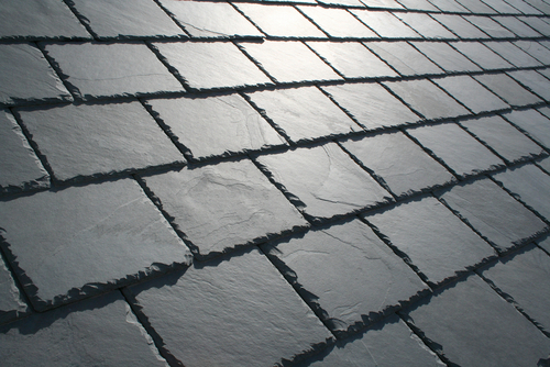 Slate Roof Close Up