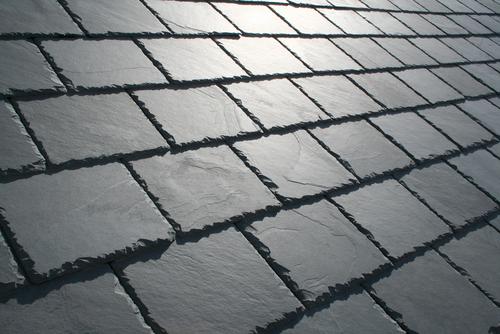 Slate Roof Close Up